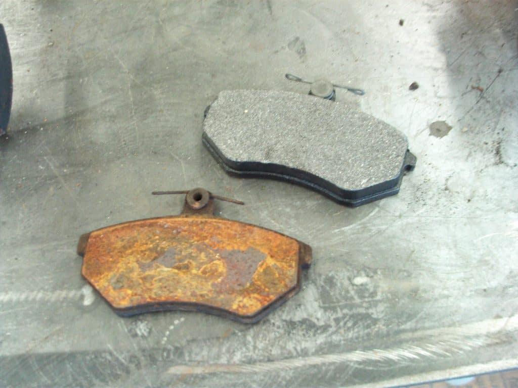 old vs new break pads