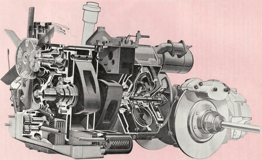 combustion engine for car