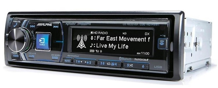 Alpine Single-Din Bluetooth Car Stereo