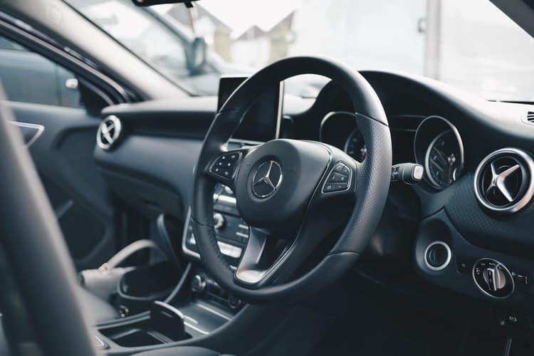 mercedes car audio interior